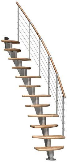 DOLLE Mittelholmtreppe »Berlin«, für Geschosshöhen bis 292 cm, variabler Treppenlauf