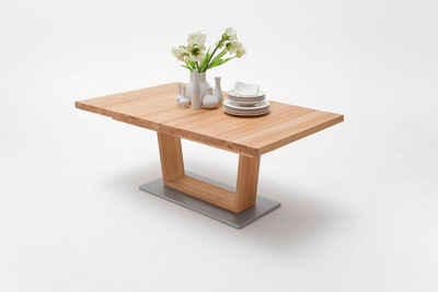 MCA furniture Säulen-Esstisch »Cantania«, Esstisch Massivholz mit Synchronauszug