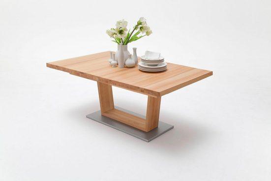 MCA furniture Säulen-Esstisch »Cantania«, mit Synchronauszug