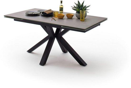 MCA furniture Esstisch »Nagano«, Esstisch Glas-Keramik mit Stirnauszug