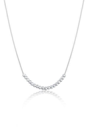 Elli Collierkettchen »Kugelkette Basic Kombinierbar Geo Look 925 Silber«