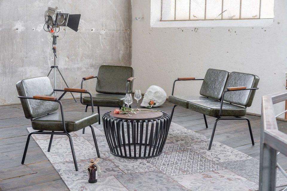KAWOLA Sitzgruppe Polsterbank und 2 x Stuhl Kunstleder