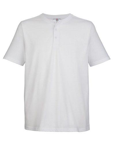 Boston Park T-Shirt mit Knopfverschluss