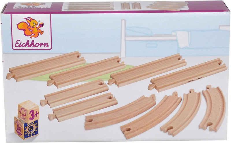 Eichhorn Gleise-Set »Schienenset, groß«, (Set, 10-tlg), aus Holz; Made in Europe, FSC®-Holz aus gewissenhaft bewirtschafteten Wäldern