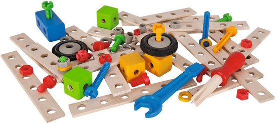Eichhorn Konstruktionsspielsteine »Constructor Tuning Set, 75-tlg.«, (75 St), Made in Germany, FSC®-Holz aus gewissenhaft bewirtschafteten Wäldern