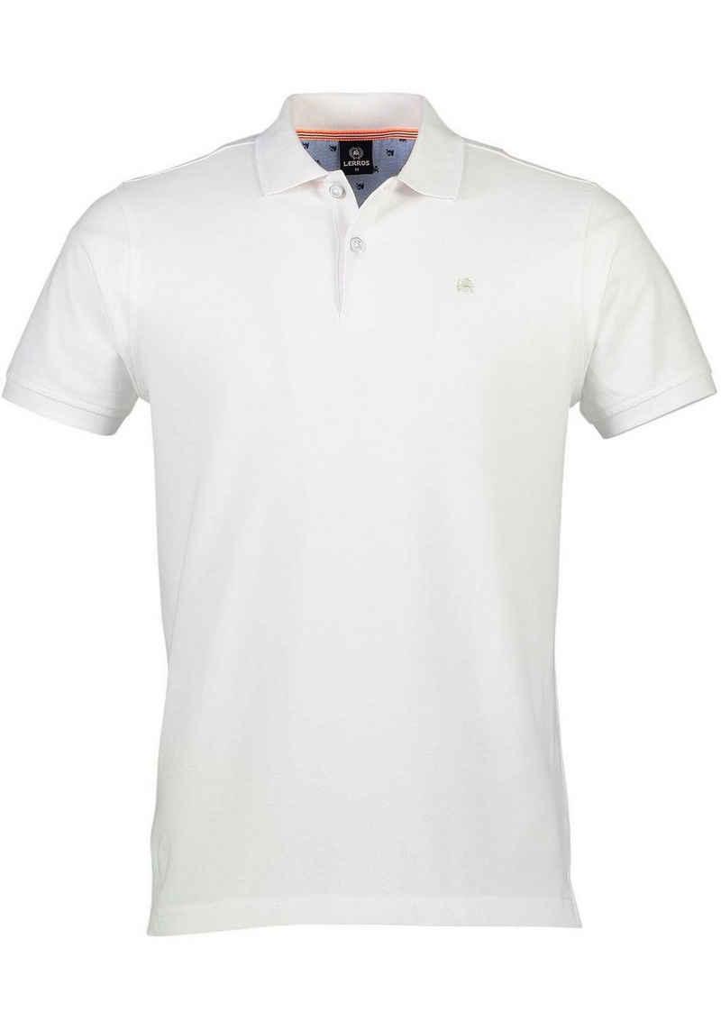 LERROS Poloshirt mit dezenter Stickerei auf der Brust