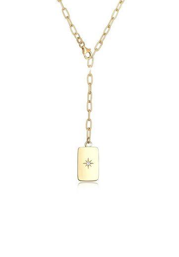 Elli Collierkettchen »Gliederkette Verstellbar Zirkonia Trend 925 Silber«