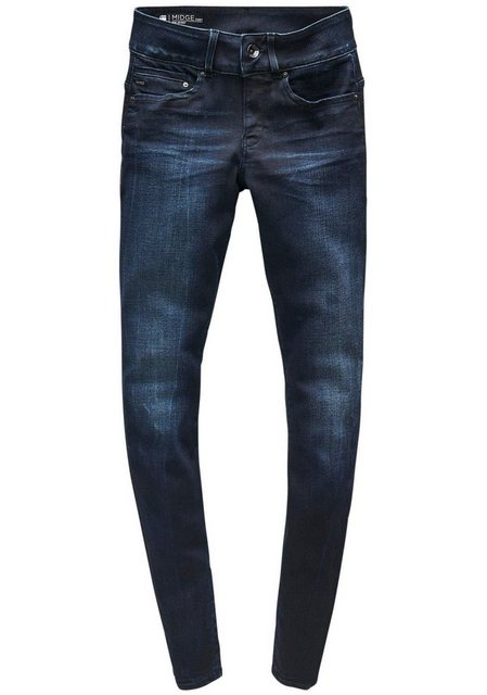 G-Star RAW 5-Pocket-Jeans »Midge Cody Mid Skinny Wmn NEW« mit Used-Effekten | Bekleidung > Jeans > 5-Pocket-Jeans | G-Star Raw