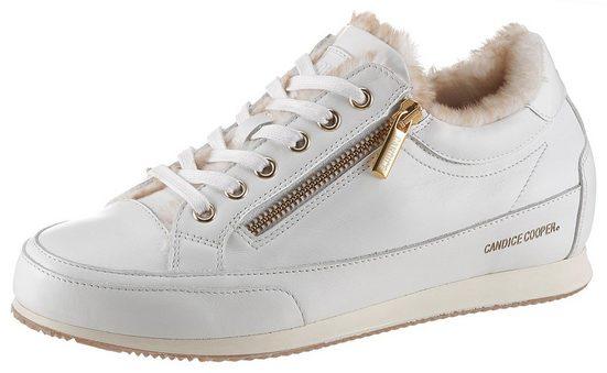 Candice Cooper »Rock Deluxe Zip« Sneaker mit goldfarbenen Details