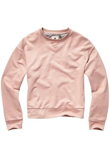 G-Star RAW Sweatshirt »Earth loose r sw wmn l/s« mit Ton-in -Ton Ärmelbadges