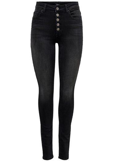 Only High-waist-Jeans »BLUSH BUTTON«