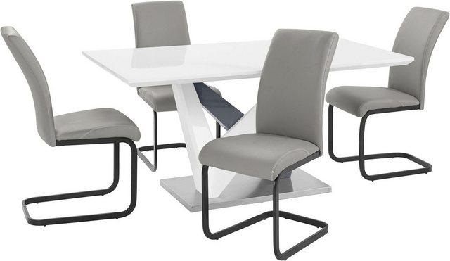 Essgruppen - Essgruppe »Harry Hermine«, mit Esstisch und 4 Stühlen  - Onlineshop OTTO