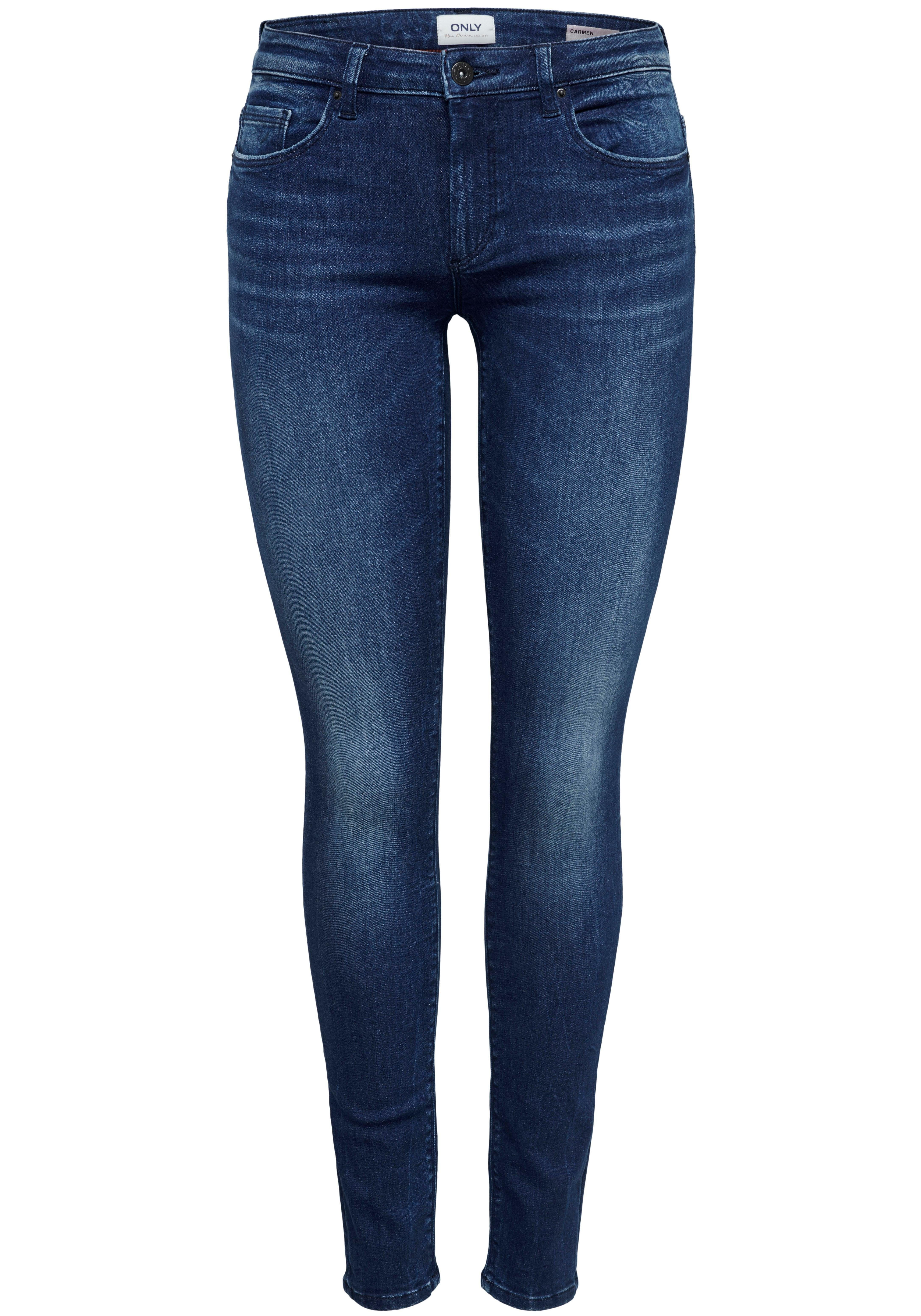 Only Skinny-fit-Jeans CARMEN, In klassischer 5-Pocket Form