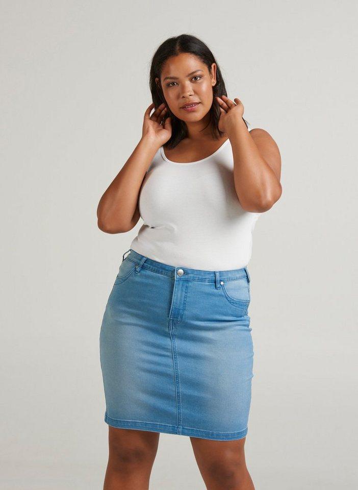 zizzi jeansrock damen rock gro e gr en r cke slim fit stretch denim jeansrock online kaufen otto. Black Bedroom Furniture Sets. Home Design Ideas