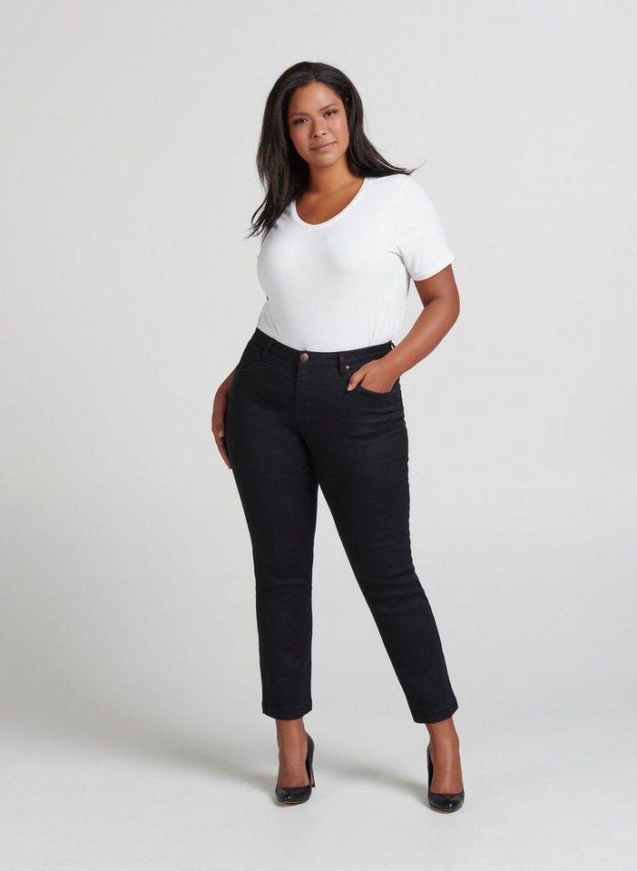 06c5a11d1c6f8f Zizzi Regular-slim-fit-Jeans Emily Jeans Damen Große Größen Hose Slim Fit