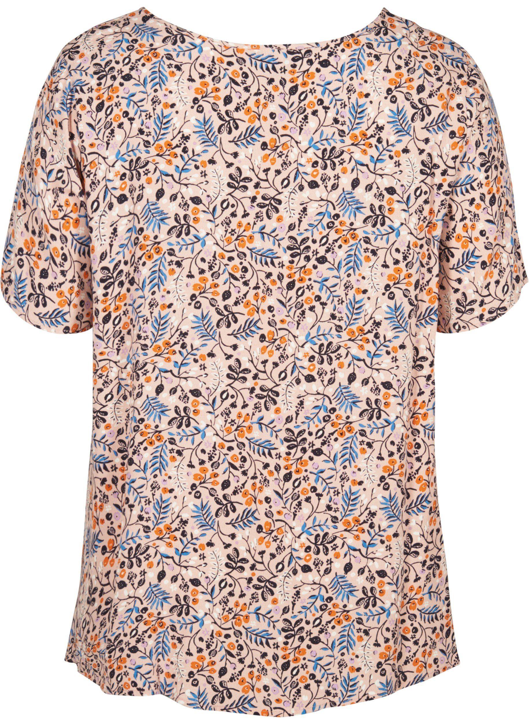 A Bluse Kurzarmbluse Online Kaufen Große Blusenshirt Damen Zizzi Kurzarm form Größen Blumenprint GVpSULqzM