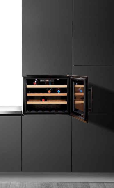 Amica Einbauweinkühlschrank WK 341 200 S, für 24 Standardflaschen á 0,75l,LED-Beleuchtung