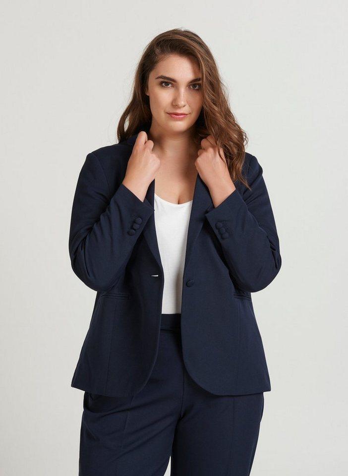 Zizzi Blusenblazer Damen Blazer Langarm Elegant Anzugjacke Große Größen