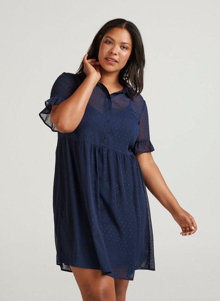 wholesale dealer 1332f c9416 Zizzi Chiffonkleid Damen Große Größen Kleid Elegant Knielang Kurzarm  Sommerkleid online kaufen | OTTO