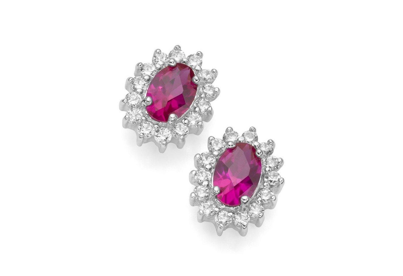 Smart Jewel Paar Ohrstecker »elegant«   Schmuck > Ohrschmuck & Ohrringe > Ohrstecker   Rot   Stein   Smart Jewel