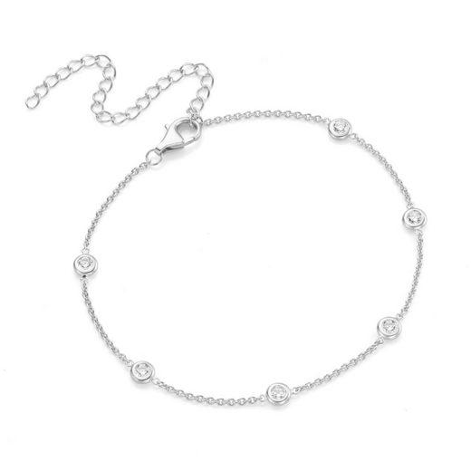 Smart Jewel Fußkette »trendig mit vielen Zirkonia«