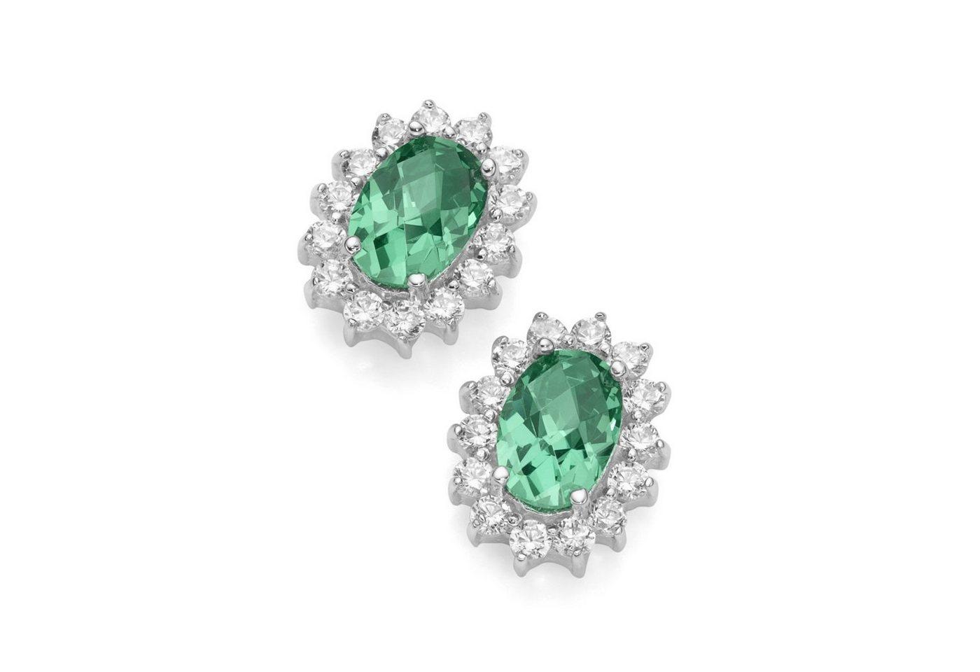 Smart Jewel Paar Ohrstecker »elegant«   Schmuck > Ohrschmuck & Ohrringe > Ohrstecker   Grün   Stein   Smart Jewel