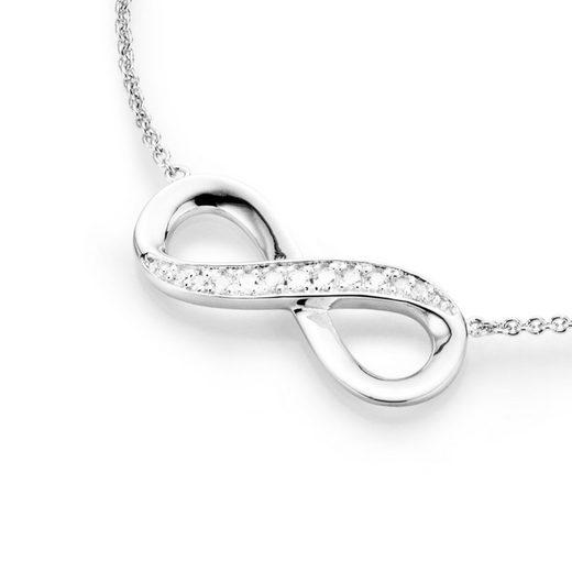 Smart Jewel Collier »filigran mit Infinityzeichen und Zirkonia, Silber 925«