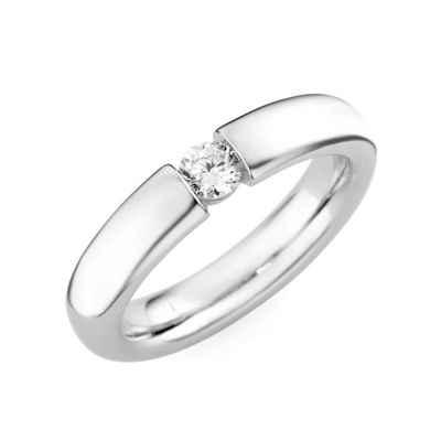 GIORGIO MARTELLO MILANO Verlobungsring »mit Zirkonia, Spannfassung«