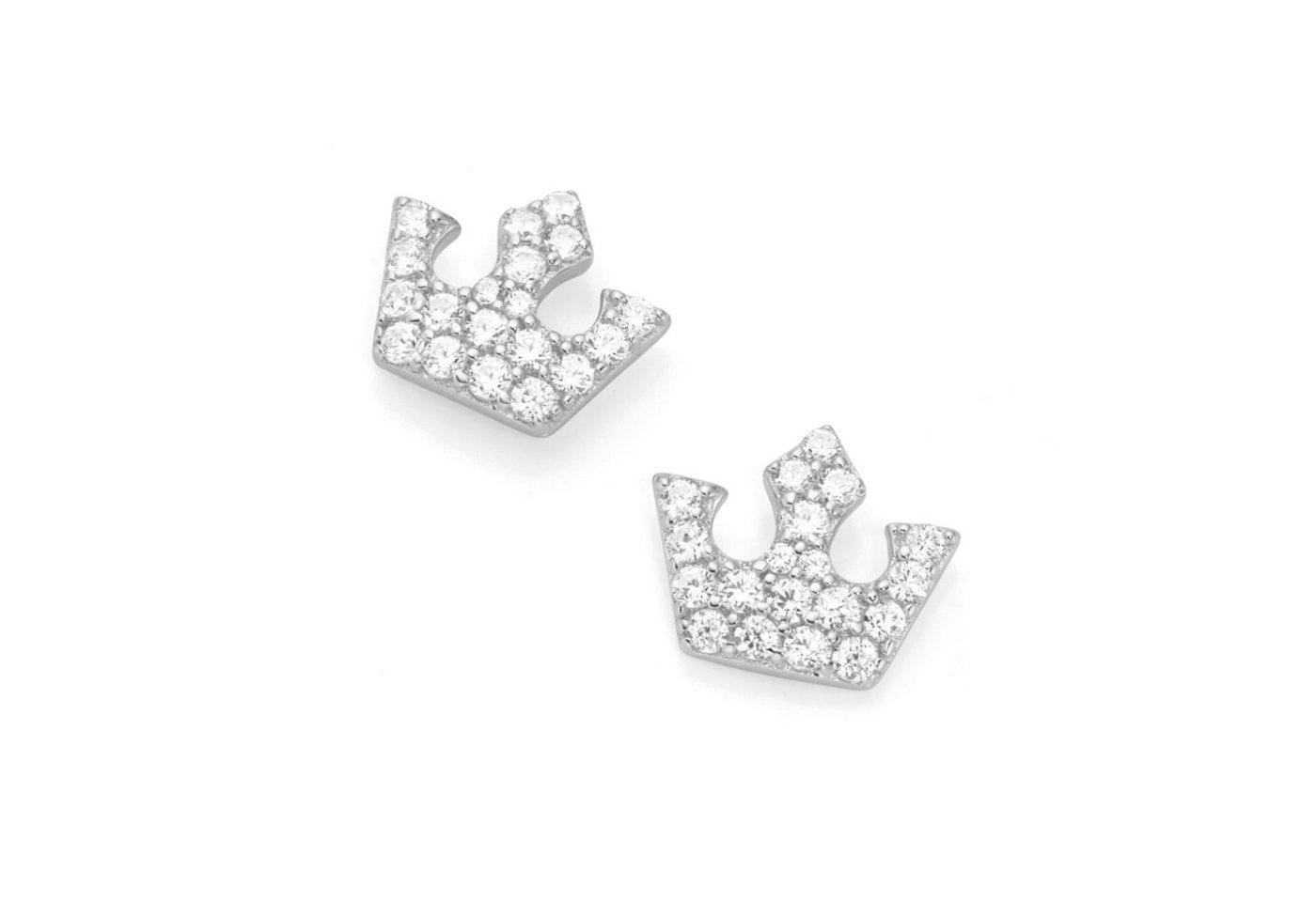Smart Jewel Paar Ohrstecker »Kronenoptik«   Schmuck > Ohrschmuck & Ohrringe > Ohrstecker   Weiß   Smart Jewel