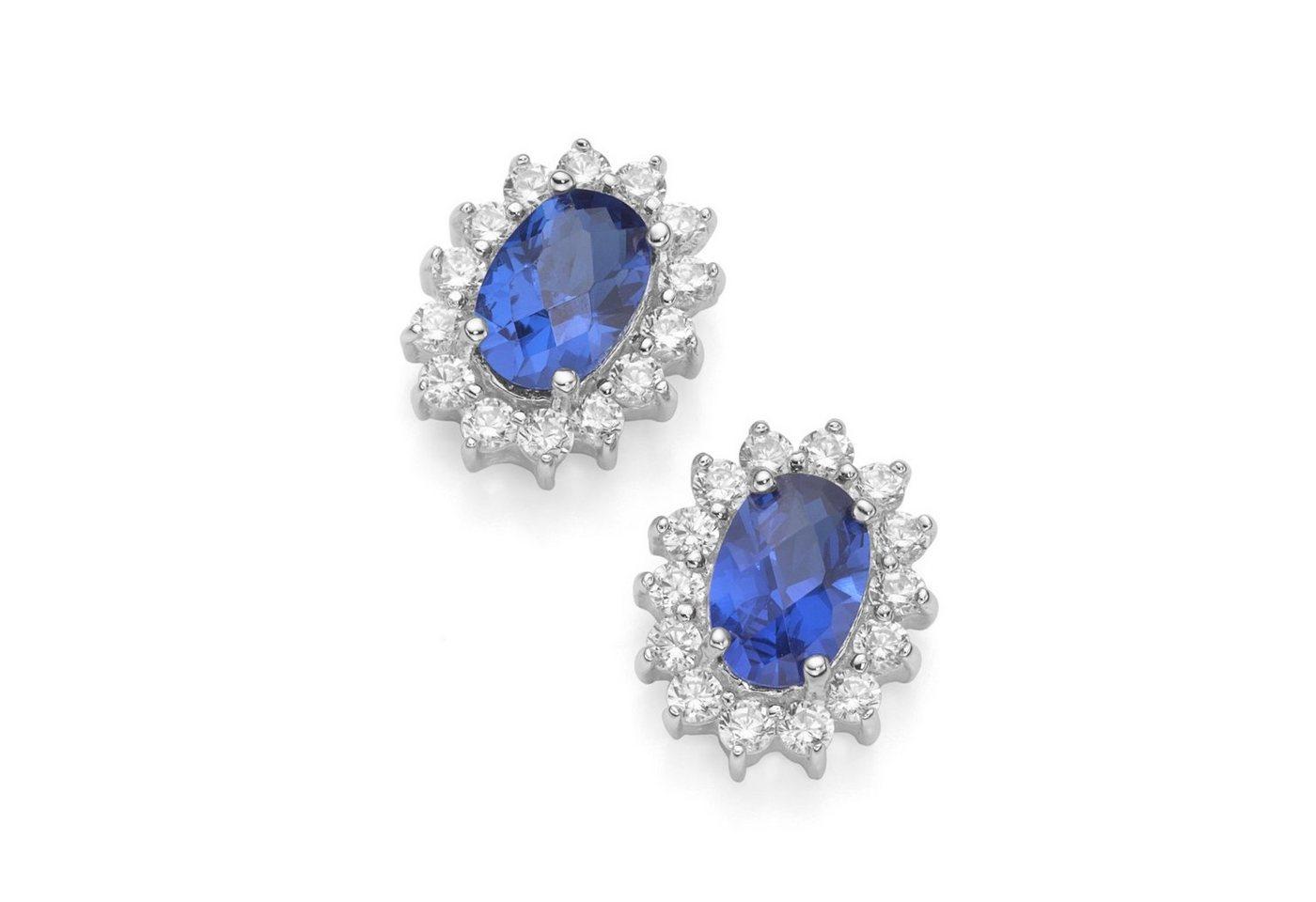 Smart Jewel Paar Ohrstecker »elegant«   Schmuck > Ohrschmuck & Ohrringe > Ohrstecker   Blau   Stein   Smart Jewel