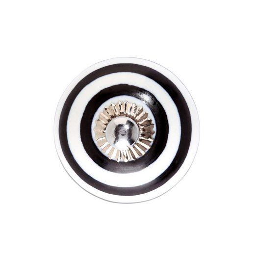 BUTLERS OPEN »Keramik Möbelknopf geringelt«