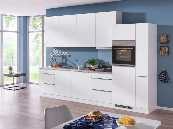HELD MÖBEL Küchenzeile mit E-Geräten »Cannes«, Breite 330 cm