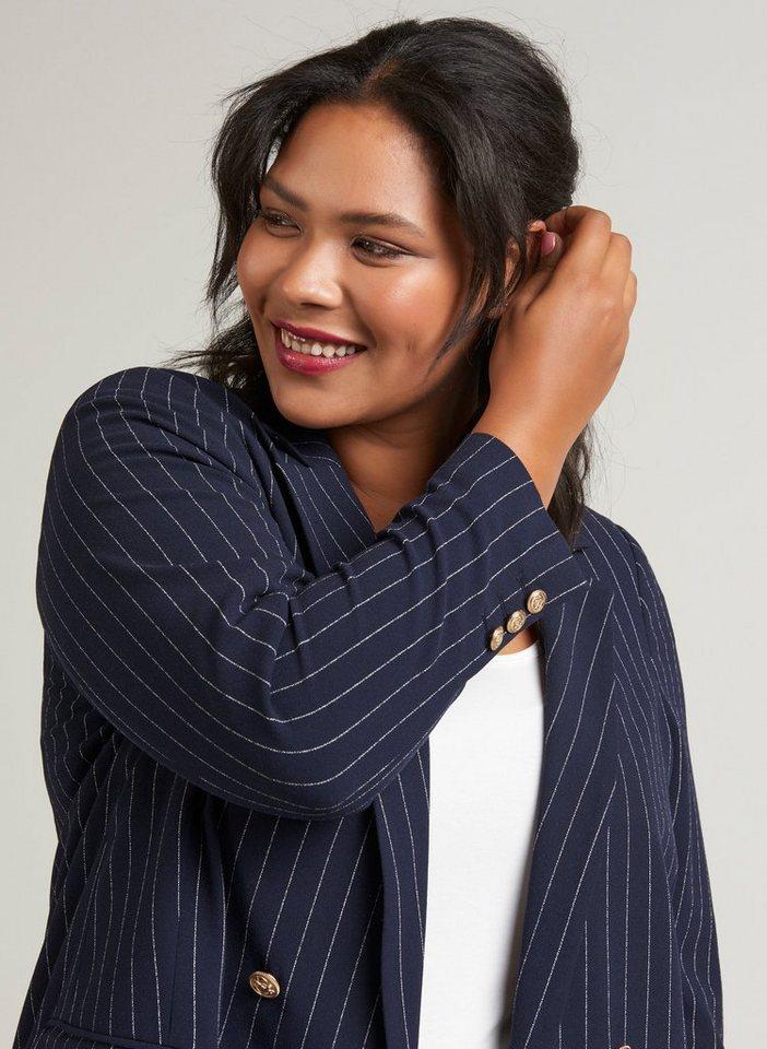ausgewähltes Material dauerhafte Modellierung größte Auswahl von 2019 Zizzi Jackenblazer Damen Große Größen Blazer Klassisch Anzug Business  Streifen Jacke online kaufen | OTTO