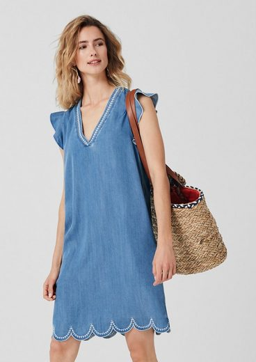 s.Oliver Besticktes Light Denim-Kleid