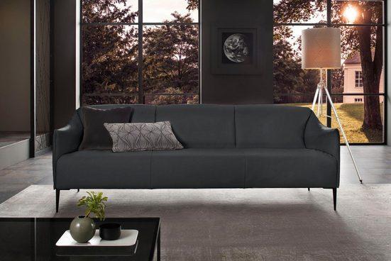 W.SCHILLIG 3-Sitzer »sally«, mit Metallfüßen in Schwarz pulverbeschichtet, Breite 224 cm