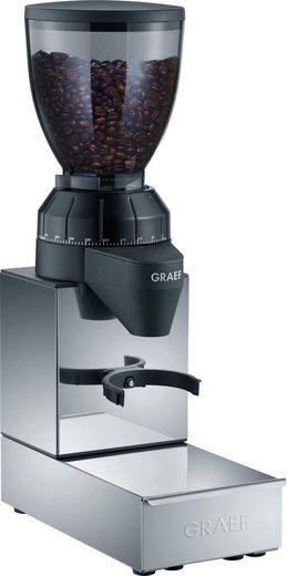 Graef Kaffeemühle CM 850 mit integrierter Ausklopfschublade, Edelstahl, 120 W, Kegelmahlwerk, 350 g Bohnenbehälter