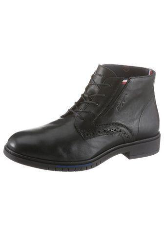 TOMMY HILFIGER Suvarstomi ilgaauliai batai