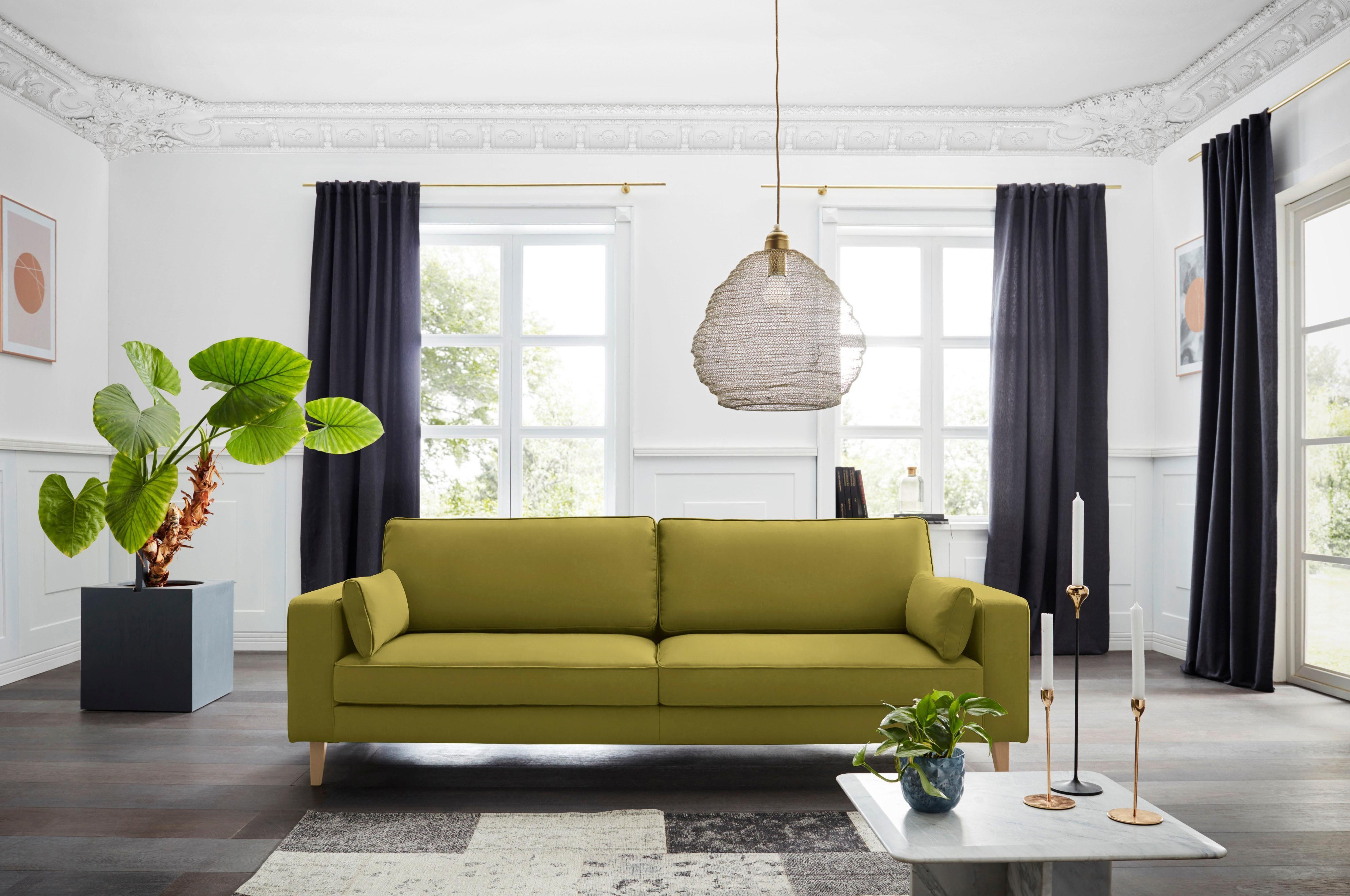 Alte Gerberei 3 Sitzer »Winston«, mit Kederverzierung, inklusive Nierenkissen online kaufen | OTTO