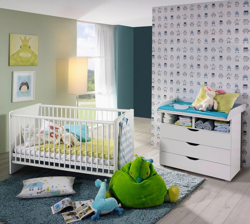 babym bel set bristol 2 tlg bett wickelkommode. Black Bedroom Furniture Sets. Home Design Ideas