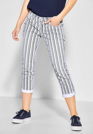STREET ONE Comfort-fit-Jeans mit Streifen