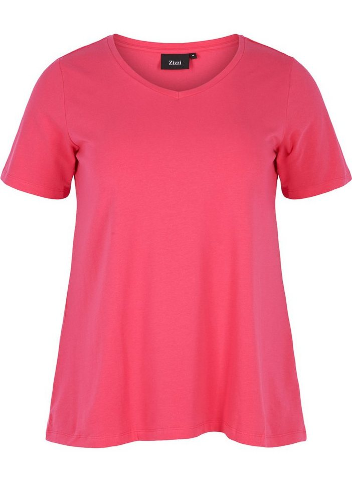 Bestseller einkaufen beste Auswahl von 2019 offizieller Verkauf Zizzi T-Shirt Damen Große Größen T-Shirt Basic Kurzarm Baumwolle Oberteile  online kaufen | OTTO