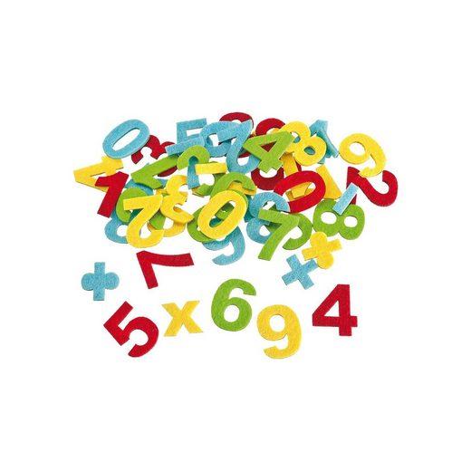 Konfetti Zahlen aus Filz