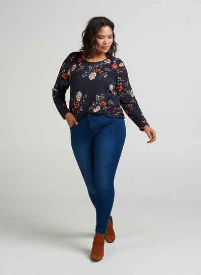 9e31f6d2da84a7 Zizzi Slim-fit-Jeans Amy Damen Jeans Super Slim Jeanshose Stretch Hose  Große Größen
