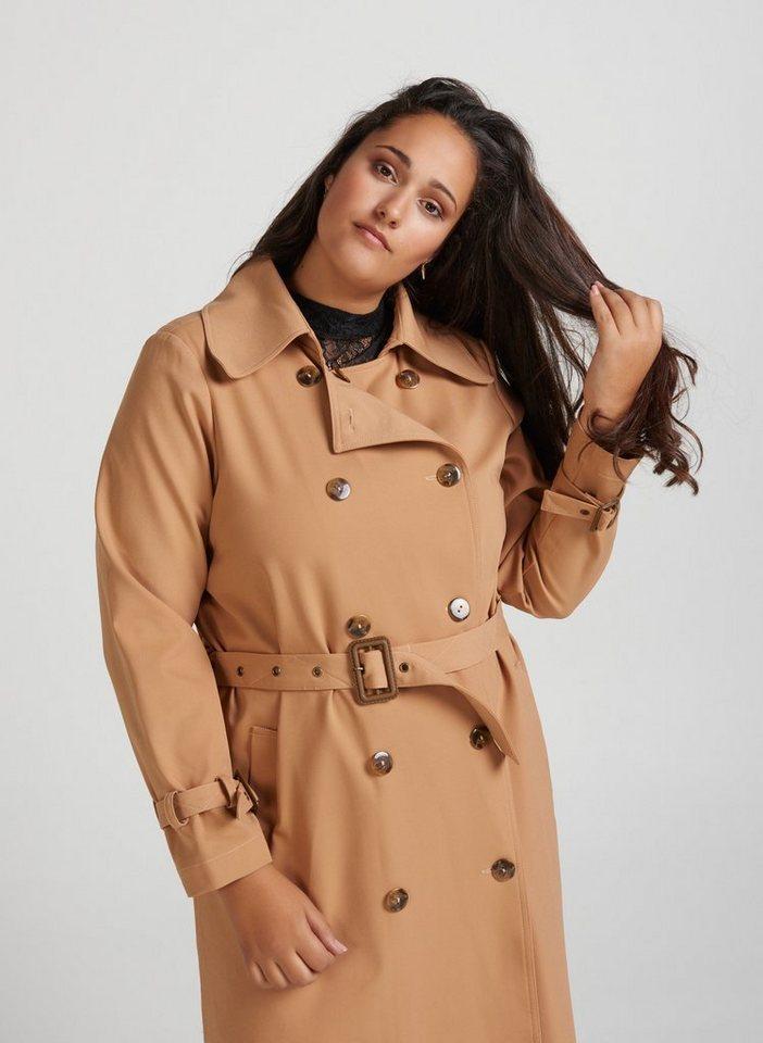 premium selection dbed5 44398 ZAY Trenchcoat Damen Trenchcoat Elegant Mantel Kragen Übergangjacke Große  Größen online kaufen | OTTO
