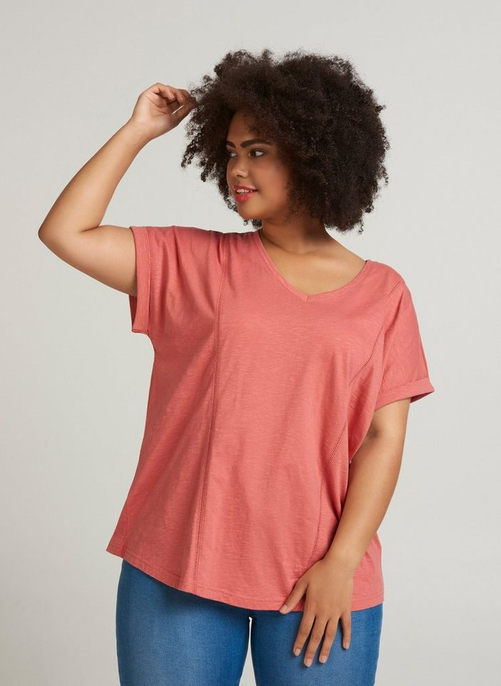 zizzi t shirt damen gro e gr en t shirt basic kurzarm v. Black Bedroom Furniture Sets. Home Design Ideas