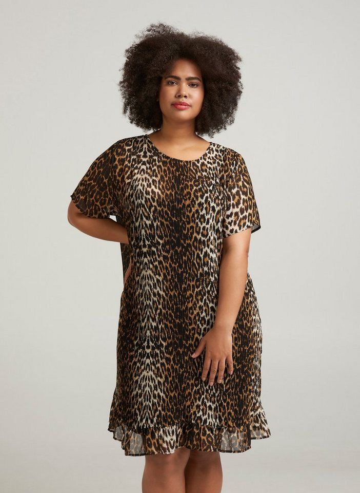 on sale bcdbb 0b2e0 Zizzi Abendkleid Damen Große Größen Kleid Leoprint Elegant Leo Partykleid  online kaufen | OTTO