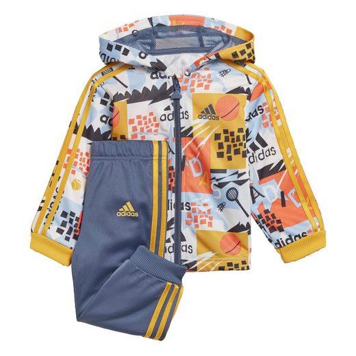 adidas Performance Trainingsanzug »Shiny Hooded Jogginganzug«