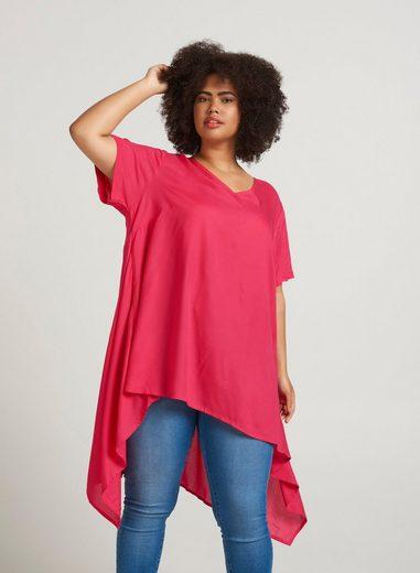 Zizzi Tunika Damen Große Größen Tunika Kurzarm Asymetrisch Locker Sommer Kleid