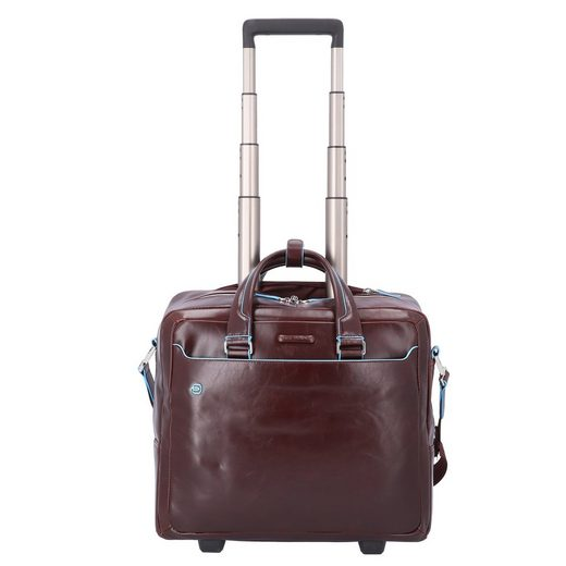 Piquadro Blue Square 2-Rollen Businesstrolley Leder 36 cm Laptopfach