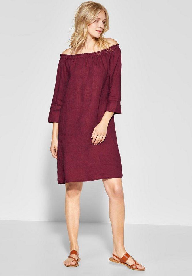 STREET ONE Sommerkleid aus Leinen, Carmenkleid online ...